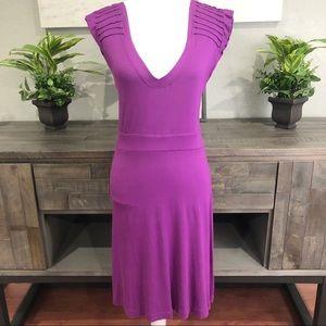 Halogen Dress ribbed shoulder purple size Medium